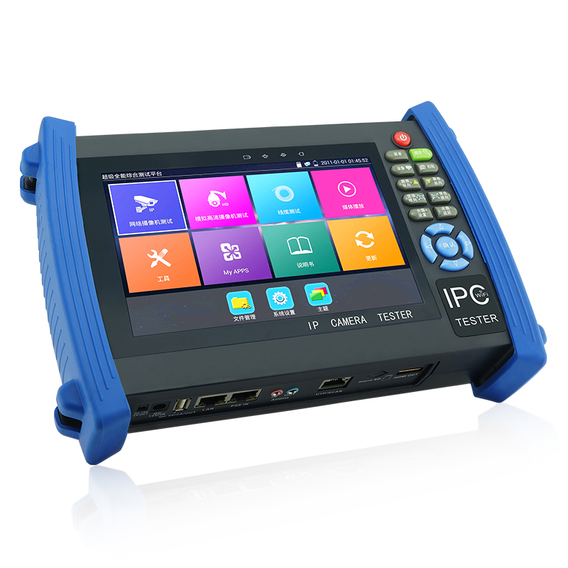 new systems.4K H.265 video display via mainstream.RJ45 cable TDR test, cable quality test for IPC8600 PLUS CCTV TESTER