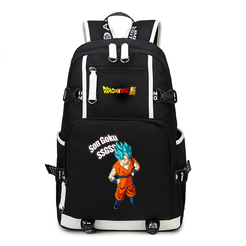 Anime Dragon Ball Z Backpack Cosplay Dragon Ball Son Goku Backpack Canvas School Laptop Students Fun Girls Boys Bags Gifts