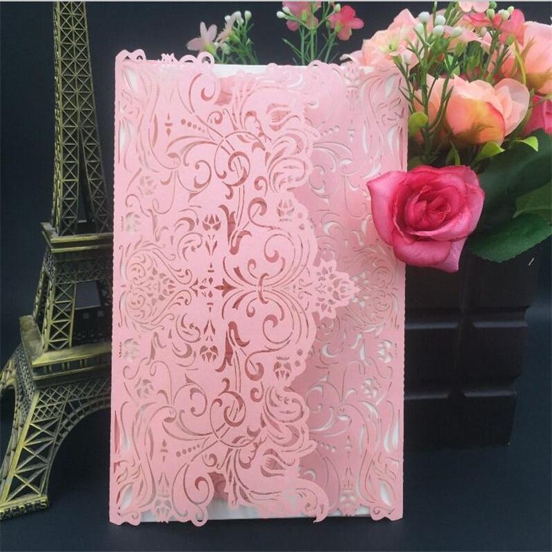 12pcs Wedding Invitations Cards Romantic Laser cut Girl Birthday ...