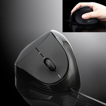 Malloom nuevo wired ergonómico vertical optical mouse wrist healing usb para ordenador pc portátil 2014