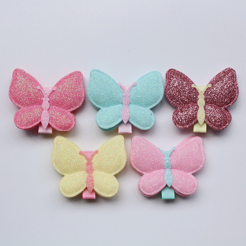 Modish New Arrival Cute 30pcs/lot Wholesale Hair Clips Glitter Animals Butterfly Felt Hairpins High Quality Princess Clips Cute new arrival baby cute 30pcs lot wholesale hair clips glitter animals butterfly felt hairpins high quality baby princess clips