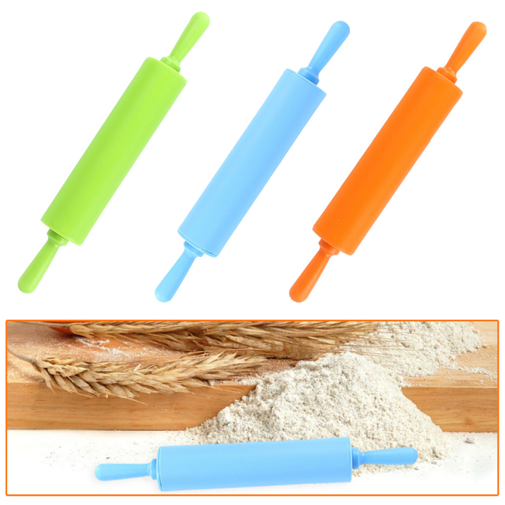 30cm Multicolored Professional Non Stick Rolling Pin Cooking Tools Silicone Mold Rubber Mud Tool