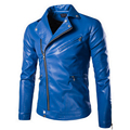 Autumn Leather Jackets Mens  Leather Jacket Coats Outdoori Male Faux Leather Jackets Suit Collar Male Casual Overcoat