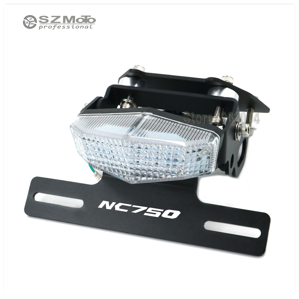 Motorcycle Tail Tidy Fender Eliminator Registration License Plate Holder frame LED Light For HONDA NC750 S/X 2014 2015 for mt 07 motorcycle fender eliminator registration license plate holder license bracket tail tidy fender eliminator