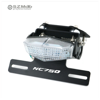 Motorcycle Tail Tidy Fender Eliminator Registration License Plate Holder frame LED Light For HONDA NC750 S/X 2014 2015