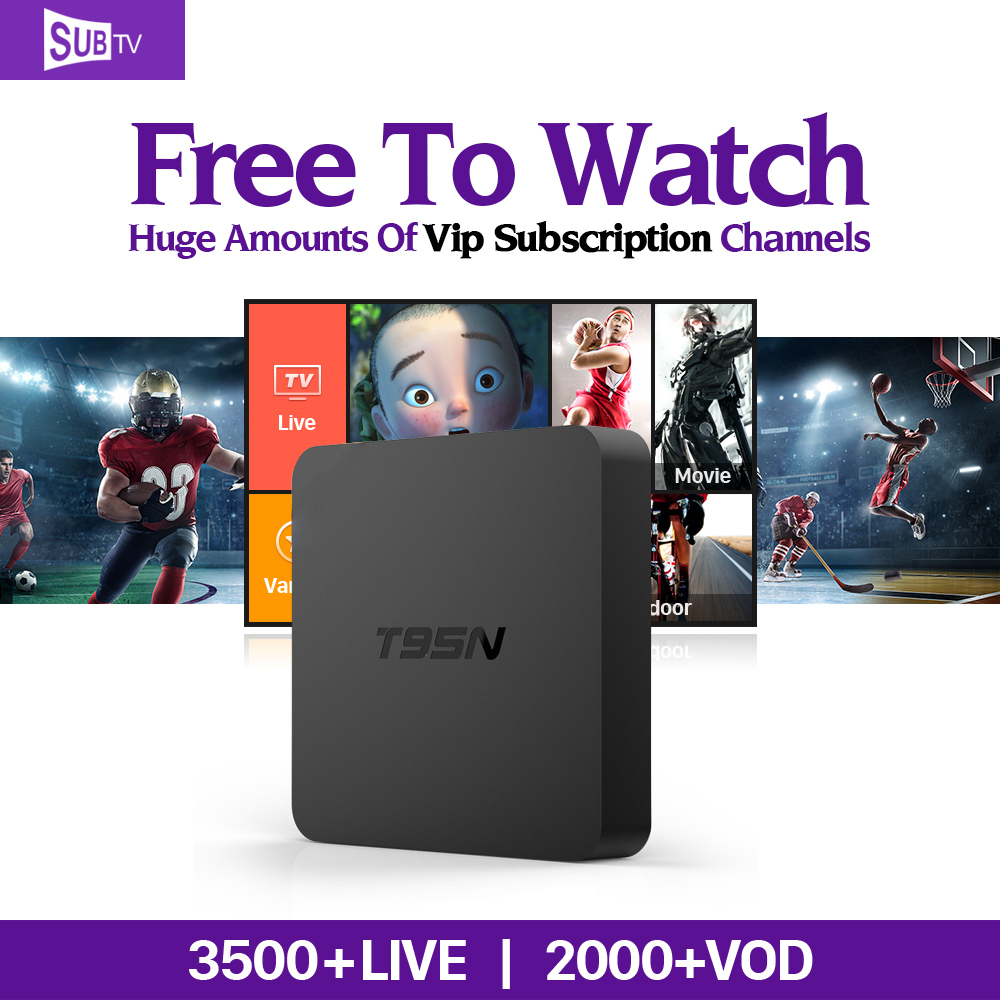 T95N Set-Top Box Smart Android TV Box Abaric French IPTV Live Channels Subscription 1 Year IUDTV Europe 2G+8G 2000+IPTV channels x92 android iptv box s912 set top box 700 live arabic iptv europe french iptv subscription 1 year iptv account code