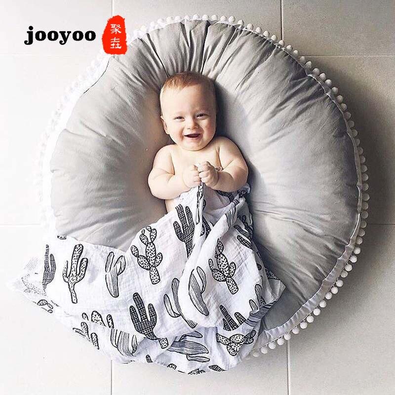 Coussins en coton Extra épais pour enfants en plein air canapé tapis de jeu bébé ramper tapis nouveau-né doux infantile canapé coussin