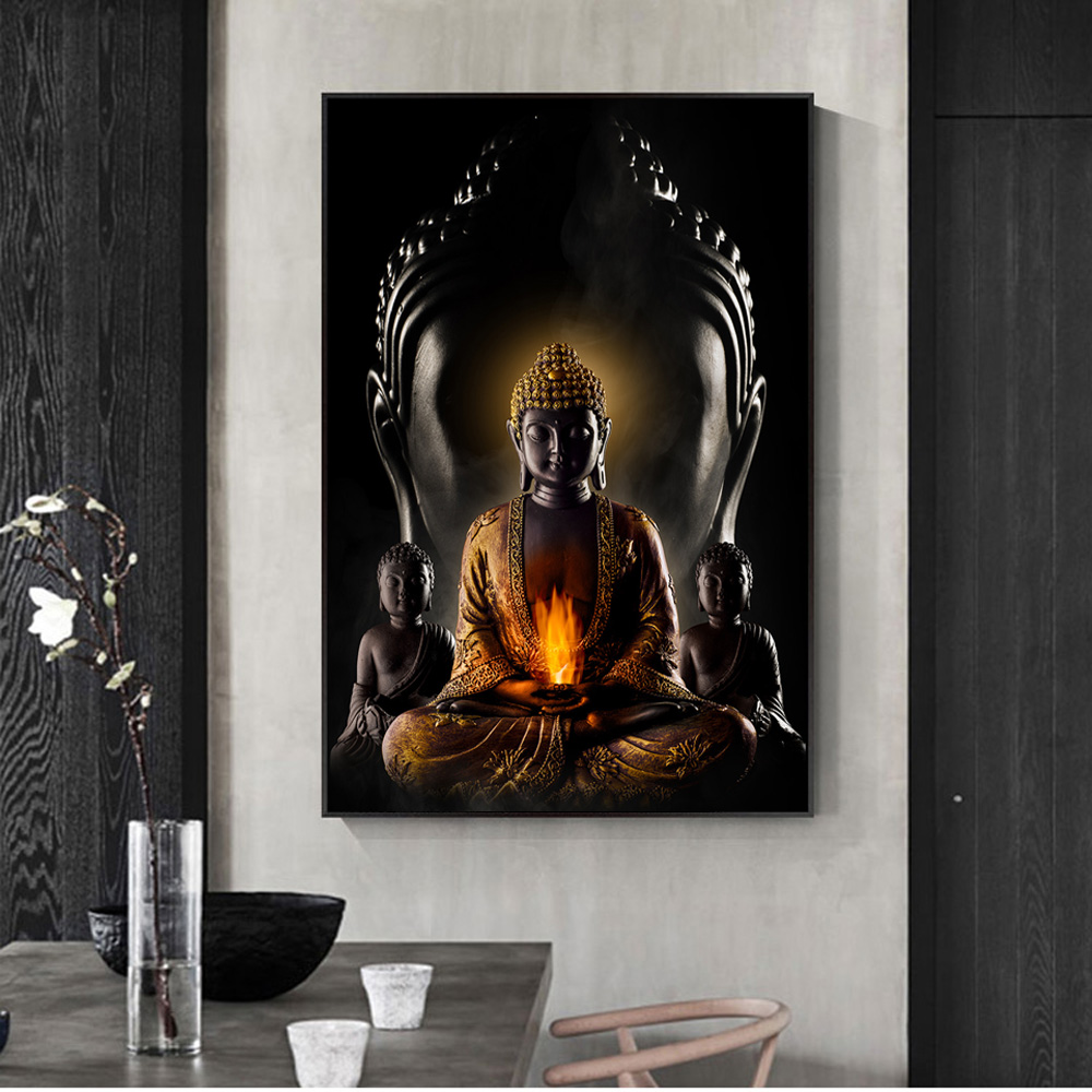 Canvas Prints Posters Pictures Wall-Decor Art-Paintings Buddha Modern God The On