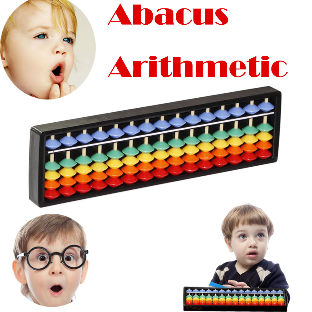 2018 Kids Math Toy Children Baby Kids Learning Developmental Calculating Plastic Abacus Arithmetic Soroban development intellect