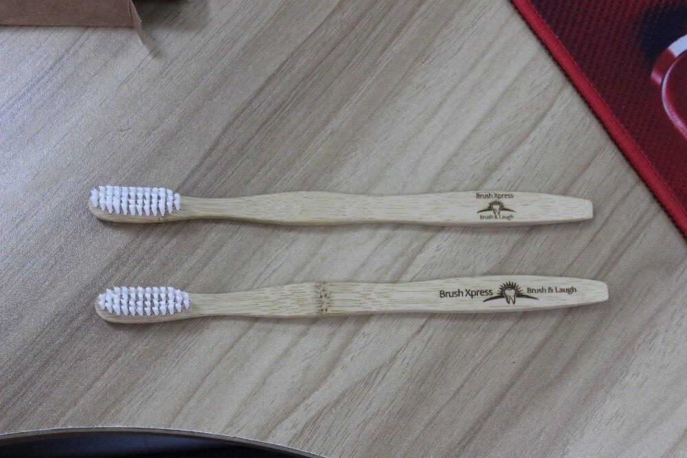 100Pcs/Set Custom Logo Free Flat Handle Travel Environmentally Eco Friendly Adult Or Kid Bamboo Toothbrush custom free 100