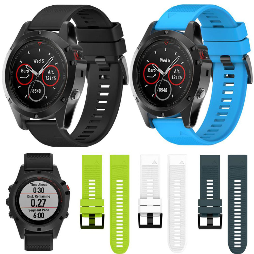 Watch Strap 26mm Replacement Silicagel Quick Install Band Strap For Garmin Fenix 3 HR / Fenix 3 Watchbands Correas de reloj 2018 22mm woven nylon strap replacement quick release easy fit band for garmin fenix 5 forerunner935 approach s60