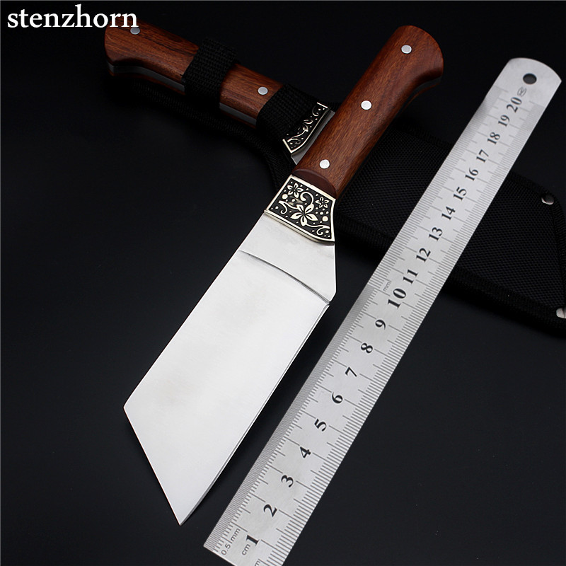Stenzhorn New Promotion Outdoor Small Straight Knife Self-defense Wild Wilderness Survival The Folding Fruit Cutter With Flowers  цены