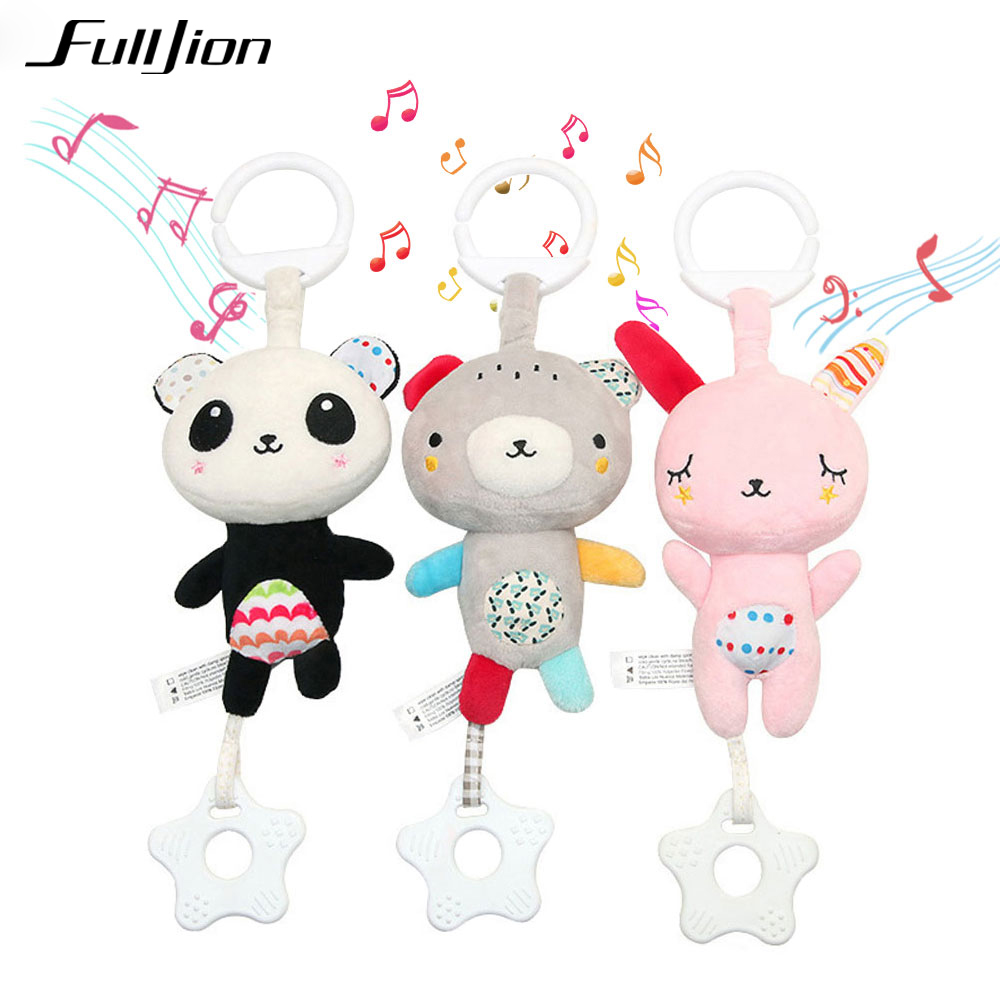 Fulljion Baby Rattles Mobiles Toddler Toys Christmas Crib Toys For Baby Soft Bed Bell Animal Musical Montessori Mobile Rattles(China)