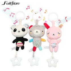 Fulljion детские погремушки Mobiles игрушки малышей Рождество кроватки игрушки для малышей Мягкая кровать колокол животных Музыкальные