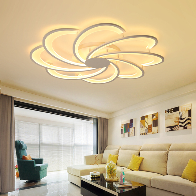 Modern Acrylic LED Ceiling Lights Indoor Home Decoration Ceiling Lamp For Living Room Bedroom Study Restaurant Lamparas De Techo