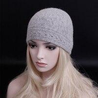 11.11 promoción de ventas! Marca de moda de invierno gruesa lana de punto CAP para mujer casual skullies gorros sombrero femenino casquillo de la nieve caliente