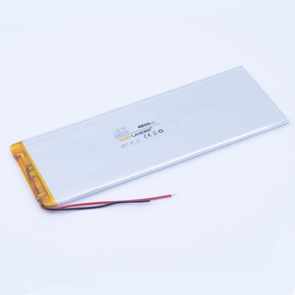 3263156 3.7V 4800mAh Rechargeable li Polymer Li-ion Battery For Tablet PC CHUWI Hi8 hi8 pro xv8 DVD DVR 3565155 3263158 3 7v 12000mah 1640138 combination rechargeable lipo polymer lithium li ion battery for power bank tablet pc laptop pad pcm board