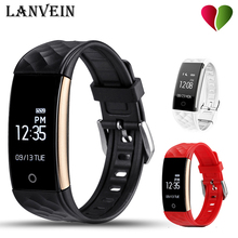 Lanvein S2 Смарт Браслет сердечного ритма шагомер сна Фитнес трекер Bluetooth 4.0 IP67 Водонепроницаемый SmartBand
