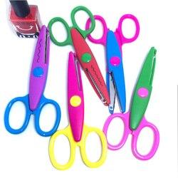 1 шт., металлические и пластиковые ножницы для скрапбукинга, для скрапбукинга, для фотосъемки, бумажные кружевные дневники, украшения с 5 узо...