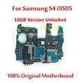 Para samsung s4 i9505 motherboard mainboard 16 gb versão desbloqueado 100% original oficial com chips de placa lógica