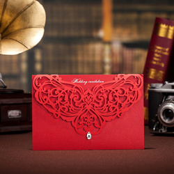 10 pieces lot new luxury laser cutting wedding invitation card with diamond red and white.jpg 250x250