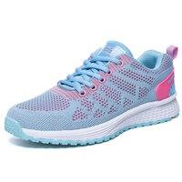2017 Good Quality Women Sneakers Luxury Brand Summer Autumn Ladies Footwear Mesh Breathable Pink Girls Cheap