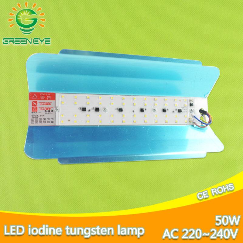 N LED floodlight 50w IP65 waterproof 220v 240v Iodine tungsten lamp LED Spotlight Refletor LED Outdoor Lighting Gargen Lamp