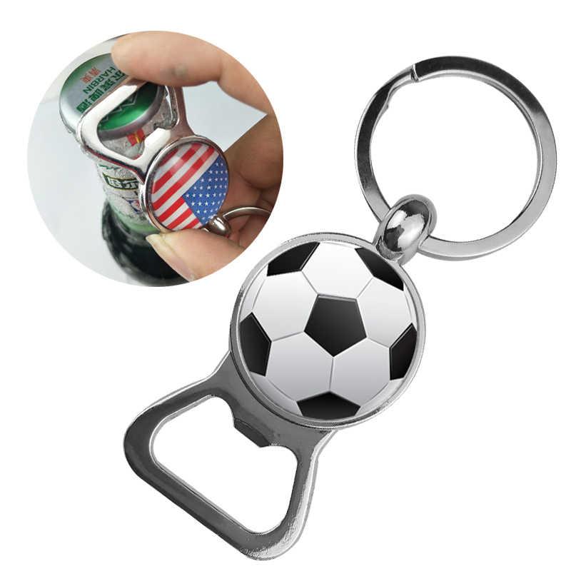 Suteyi futebol porta-chaves desportivo abridor de garrafa porta-chaves de vidro cúpula beisebol basquete tênis golfe imagem feminino masculino jóias