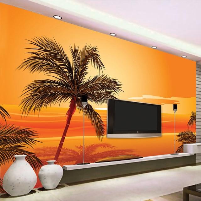 beibehang Custom 3D Photo Wallpaper Southeast Asian Style Beach