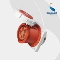 High Quality IP67 5P 125A International Standard Panel Mounted Socket / Waterproof Concealed Industrial Socket ( SP 1461)