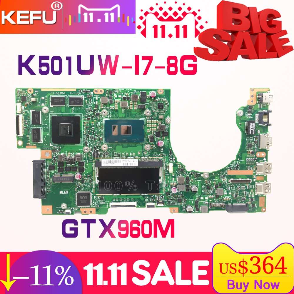 все цены на SHELI A501UX For ASUS K501UB K501UX K501U K501UW K501UQ A501U A501UB I7 laptop motherboard tested 100% work original mainboard