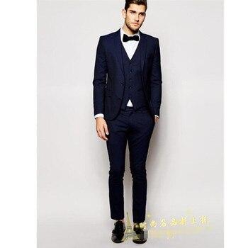 Men's suit high quality classic men's suit three-piece suit (coat + pants + vest) wedding groom dress men's ball dress custom