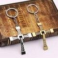 Novelty Christian Gift Rhinestone Cross Keychain Crystal Keyring Charm Handbag Pendant Key Holder Women Bag Decoration
