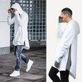 2017 Hoodies Camisolas Dos Homens Casaco Com Capuz Estilo Longo Irregular Inferior Multi-Zippers Embellished Mens Hiphop Frete Grátis