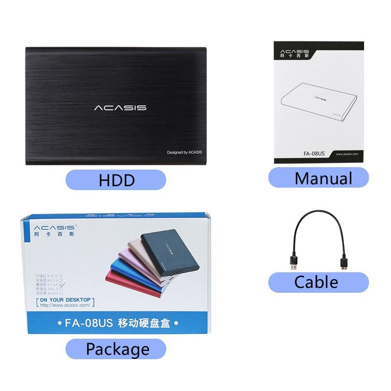 ACASIS 2.5'' External Hard Drive USB 3.0 Colorful Metal HDD Portable External HD Hard Disk for Desktop Laptop Server Super Deals 5