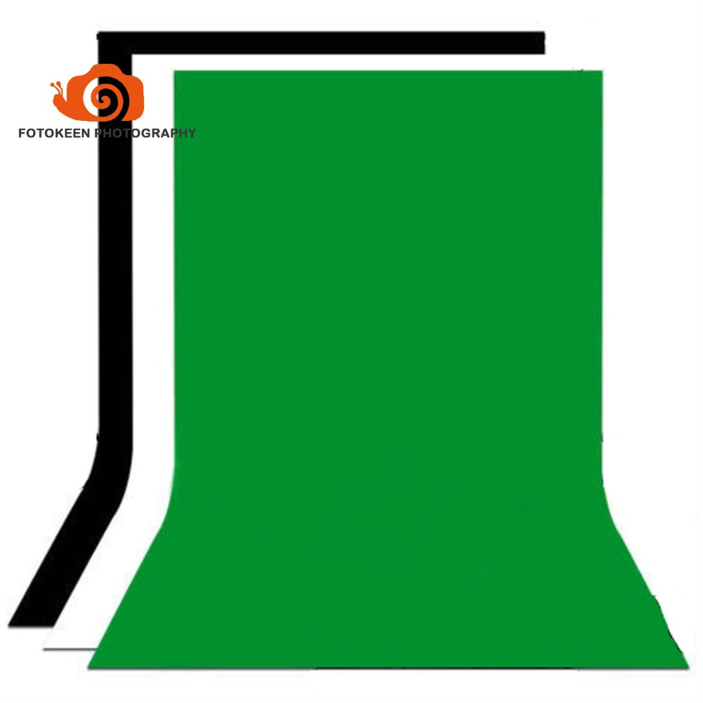 5x10 FT Opacity Backdrop Background Kit Black White Green Non-woven cloth Backdrops for Photography Studio,Television (3 Pack) supon 6 color options screen chroma key 3 x 5m background backdrop cloth for studio photo lighting non woven fabrics backdrop