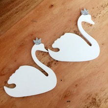ФОТО Cute pink  crown swan wooden clothes hook for kids room wall decorate children room ECO  hanger hook