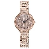 Изысканная кожа женские цветочные часы розовое золото кварцевые часы Женское платье часы водостойкие женские настольные брендовые роскош