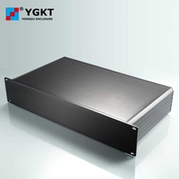 YGH 001 482*88 250 mm (wxhxd) 2U rack mount chassis aluminum project box metal enclosure box