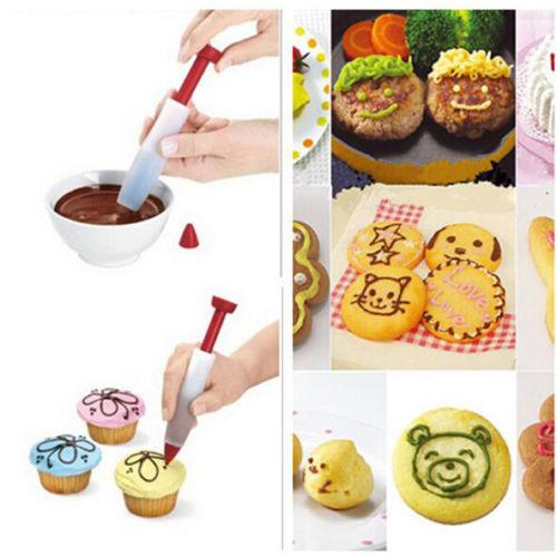 1 Stucke Silikon Lustige Zeichnung Lebensmittel Schreiben Stift