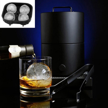 4 Hole 3D Diamond Shape Ice Cube Tray Silicone Mold For Whiskey Wine Ice Cream Maker Chocolate Mold Bar Tool Kitchen Accessories