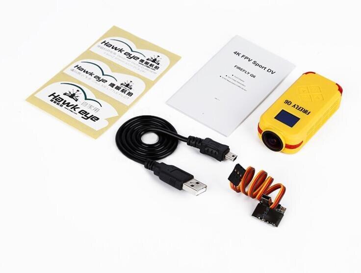 Firefly Q6 4K HD FPV Aerial Camcorder 120 Wide Angle Action Camera for ZMR250 QAV250 210 QAV180 Racing Drone hawkeye firefly q6 4k hd mini camera fpv glight camcorder for qav250 210 180 drones