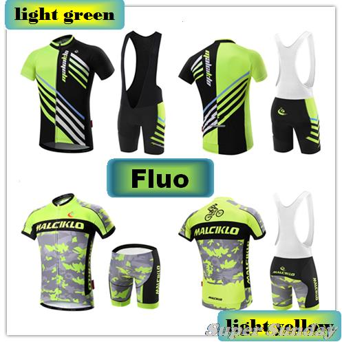 Free Shipping Fluorescent Cycling Jerseys Men's Cycling Clothings High Quality Summer Bike Jerseys Team Bicycle Suits