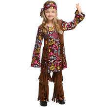 Umorden Peace and Love Hippie Costume for Girls Kids Child 70s Costumes Halloween Party Carnival Fancy Dress
