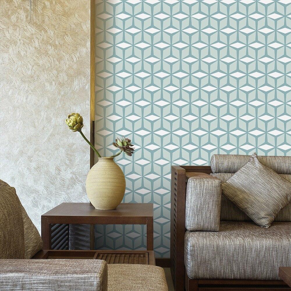 Funlife Nordic Green Home Decor Self Adhesive PVC Wallpaper Rolls,Modern Wall Art,Waterproof DIY Wall Paper Furniture Stickers