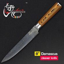 Haoye 8 zoll damaskus cleaver küchenmesser japanische qualität vg10 stahl sushi sashimi messer geschnitten fleisch fischfilet schneiden sharp