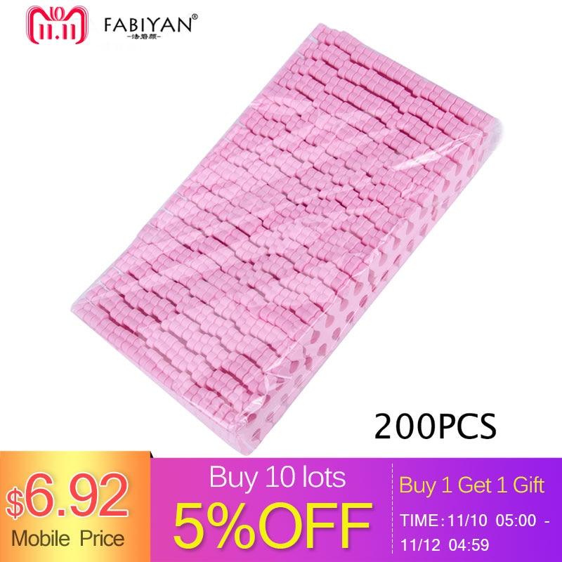 Pink 200pcs Nail Art 100 Pairs Toe Separators Fingers Foots Sponge Soft Gel UV Beauty Tools Polish Manicure Pedicure Pack цена