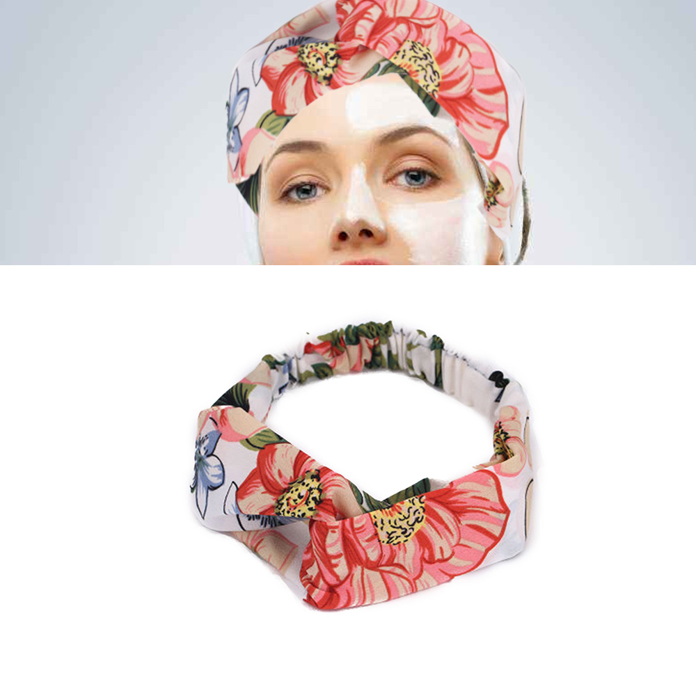 Women Headband Vintage Floral Print Headwear Cross Knot Elastic Hair Bands Soft Solid Girls Hairband Hair Accessories in Women 39 s Hair Accessories from Apparel Accessories