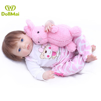 Bebes reborn 43cm soft silicone reborn baby dolls realistic reborn babies alive doll for child birthday gift bonecas