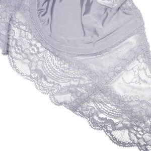 Image 4 - Комплект женского кружевного нижнего белья из бюстгальтера и трусиков с чашкой 3/4
